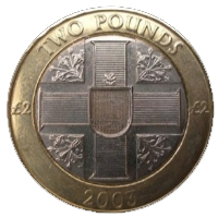 2 Guernsey Pounds coin
