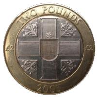2 Guernsey Pounds coin