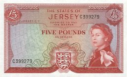 5 Jersey Pounds banknote - St. Aubin's Fort