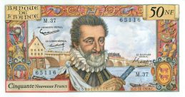 50 French Francs banknote - Henry IV