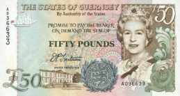 50 Guernsey Pounds banknote - Royal Court House