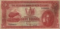 50 New Zealand Pounds banknote - Maori chief