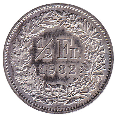 50 Rappen coin Switzerland obverse accepted for exchange