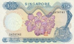 50 Singapore Dollars banknote - Orchids series