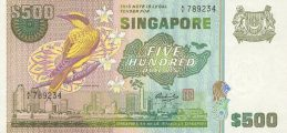 500 Singapore Dollars banknote - Bird series