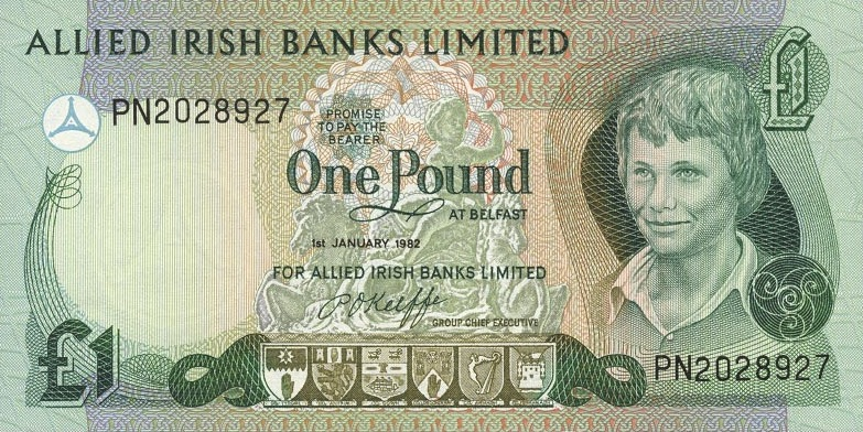 Allied Irish Banks Limited 1 Pound banknote - Young boy