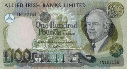 Allied Irish Banks Limited 100 Pounds banknote - Mature man