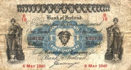 Bank of Ireland 1 Pound banknote - Hibernia