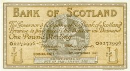 Bank of Scotland 1 Pound banknote - 1945-1953 series