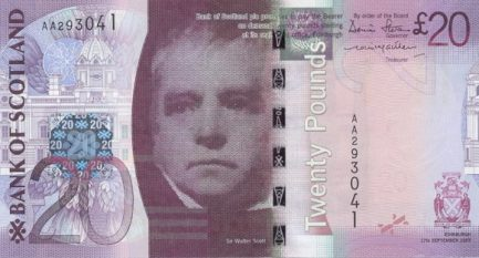 Bank of Scotland 20 Pounds banknote - 2007-2011 series