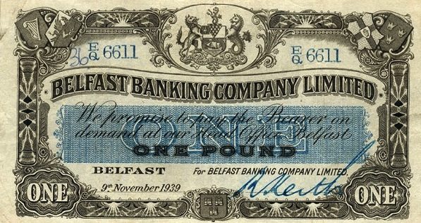 Belfast Banking Company 1 Pound banknote