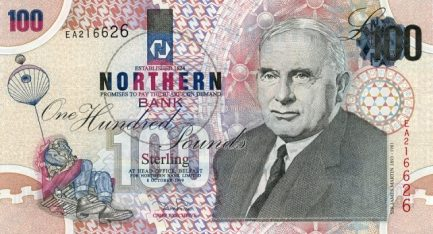 Northern Bank 100 Pounds banknote - series 1999
