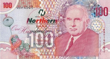 Northern Bank 100 Pounds banknote - series 2005