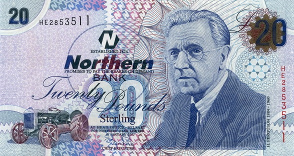 Northern Bank 20 Pounds banknote - series 2005-2006