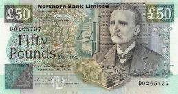 Northern Bank 50 Pounds banknote - series 1990