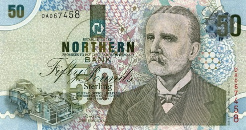Northern Bank 50 Pounds banknote - series 1999