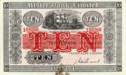 Ulster Bank Limited 10 Pounds banknote - series 1929-1948