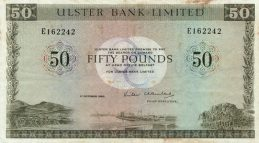 Ulster Bank Limited 50 Pounds banknote - series 1982