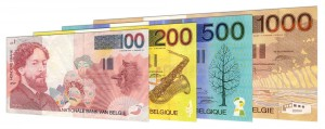 Belgian Franc banknotes accepted for exchange