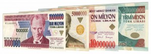 obsolete old Turkish Lira banknotes accepted for exchange