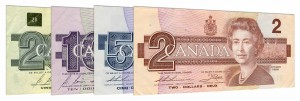 withdrawn Canadian Dollar banknotes accepted for exchange