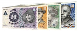 withdrawn Danish Kroner banknotes accepted for exchange