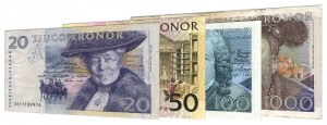withdrawn Swedish Krona banknotes accepted for exchange
