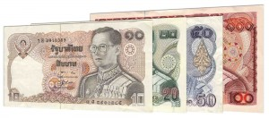 withdrawn Thai Baht banknotes accepted for exchange