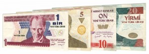 withdrawn Turkish Lira banknotes accepted for exchange