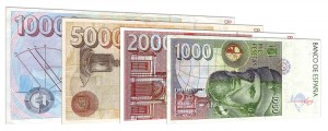 withdrawn Spanish Peseta banknotes accepted for exchange
