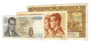 demonetized Belgian Franc Treasury banknotes accepted for exchange