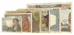French Franc pre-1958 banknotes accepted for exchange