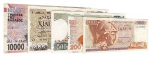 Greek Drachma banknotes accepted for exchange