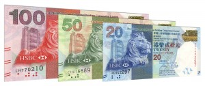 Current HSBC Hong Kong dollar banknotes accepted for exchange