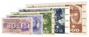 Demonetized Swiss franc 5th series banknotes accepted for exchange