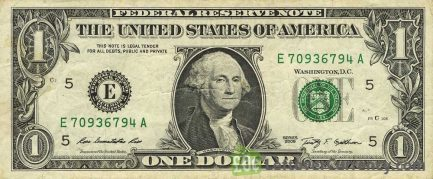 1 American Dollar banknote