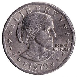 1 American Dollar coin Susan B Anthony