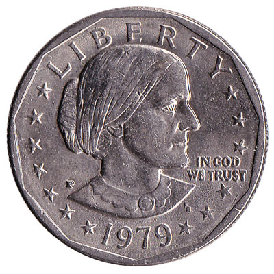 1 American Dollar coin Susan B Anthony