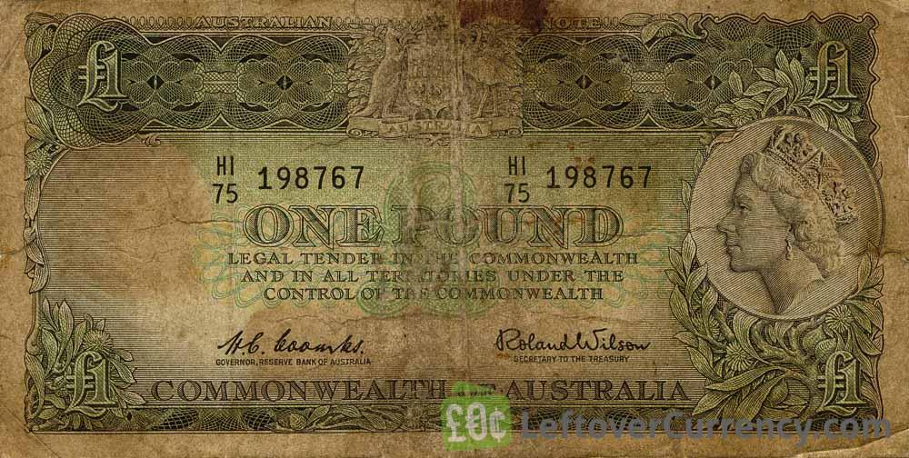 1 Australian Pound banknote (Charles Sturt)