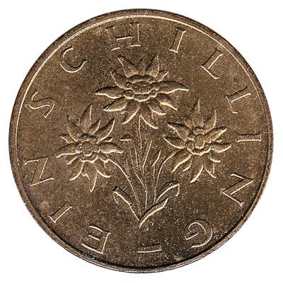 Edelweiss flower Austria 1964-1 Schilling Aluminum-Bronze Pre-Euro Coin