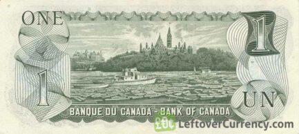 1 Canadian Dollar banknote series 1974 Scenes of Canada