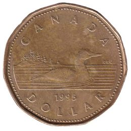 1 Canadian Dollar coin (loonie)