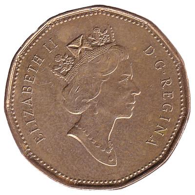 1 Canadian Dollar coin (loonie)