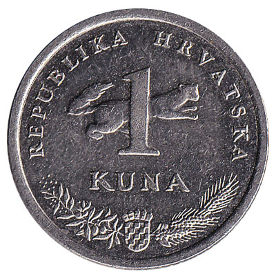 1 Croatian Kuna coin