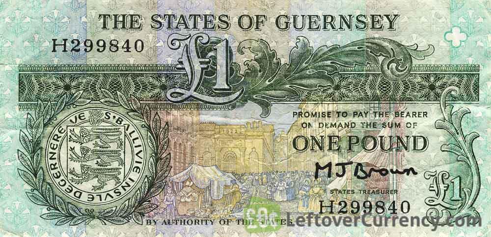 1 Guernsey Pound banknote (Daniel De Lisle Brock)