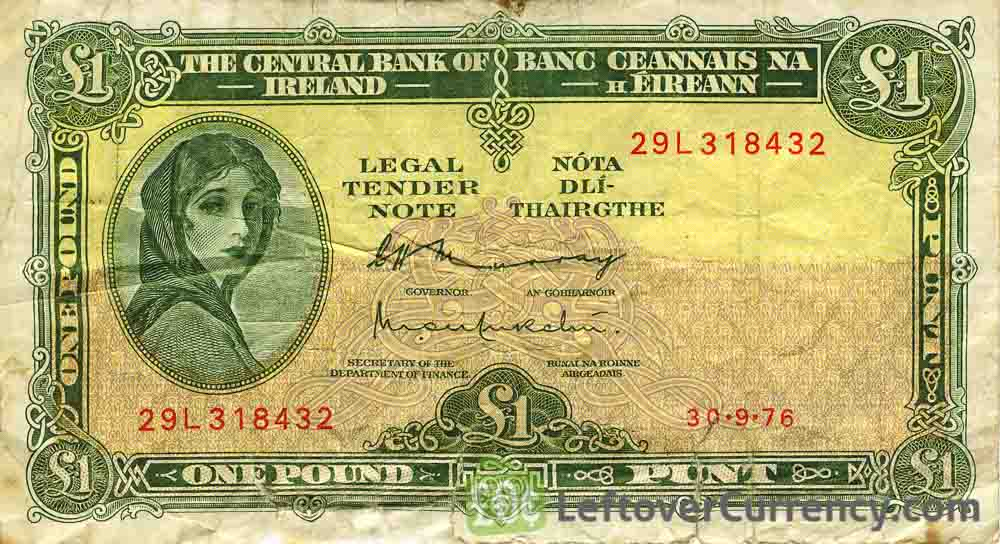 1 Irish Pound banknote (Lady Hazel Lavery)