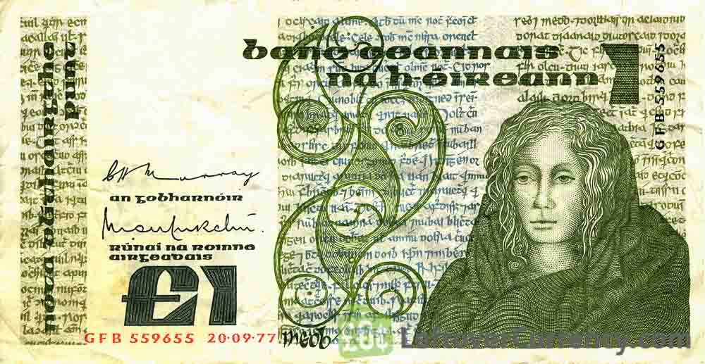 1 Irish Pound banknote (Queen Medb)