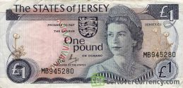1 Jersey Pound banknote (Battle of Jersey)