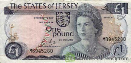 1 Jersey Pound banknote (Battle of Jersey)