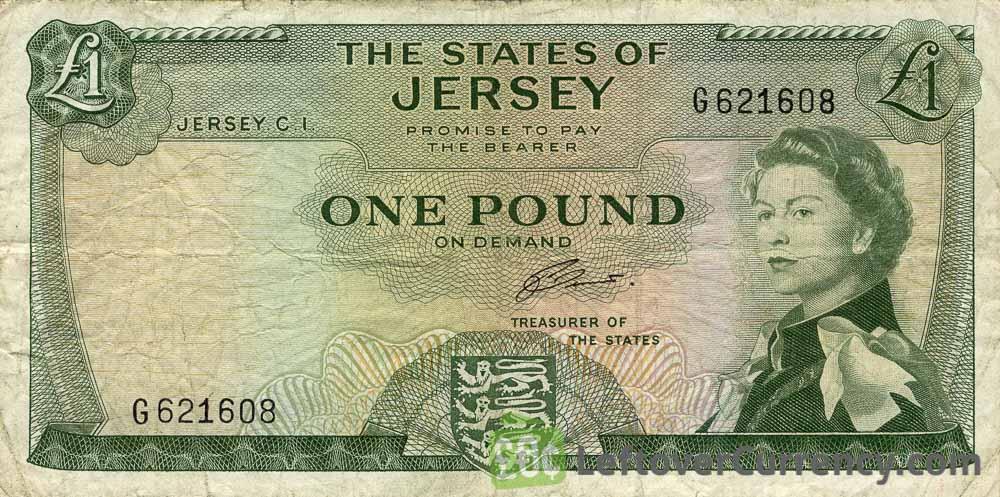 1 Jersey Pound banknote (Mont Orgueil Castle)